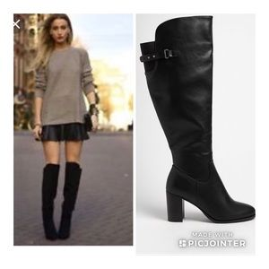 XXI Over The Knee Black Boots